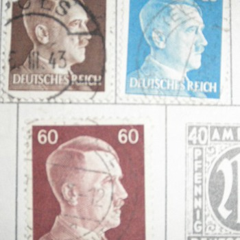 German Hitler Stamps