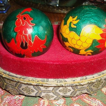 Cloisonne health balls from thrift store  $5.00 - Asian