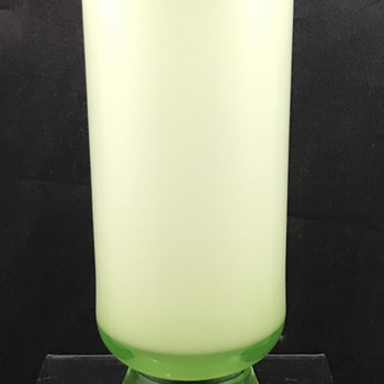 Unusual Kralik Uranium Glass Vase, ca. 1930s.
