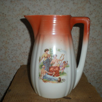 Bulgarian Art Deco porcelain jug 1939.