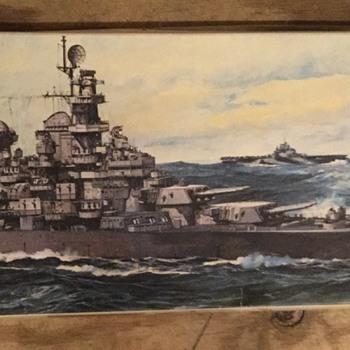 U.S Battleship Bb-63