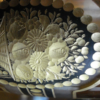 Mor details of Steinschonau vase - Art Glass