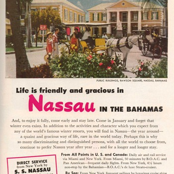 1952 - Nassau Bahamas Travel Advertisement