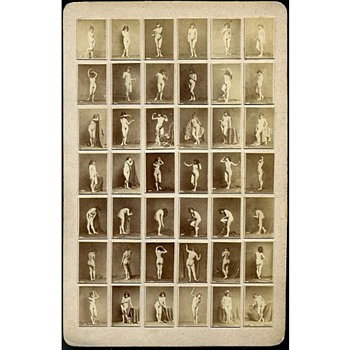 Early Cabinet Card - 42-Image Nude Study - Photographs