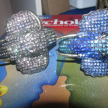 Rhinestone elephant bangles - Animals