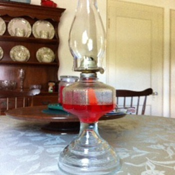 Can you substitute non-kerosene oil in an old lamp?