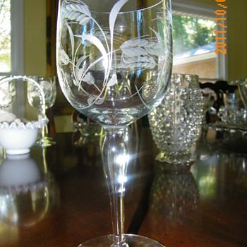 Four Wine Glasses - Glassware