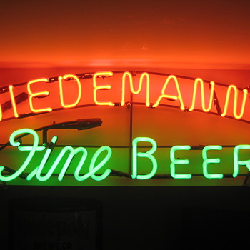 Nice Older Wiedemann Beer Neon - Breweriana