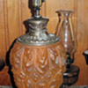 Antique patterned lamp base - info wanted