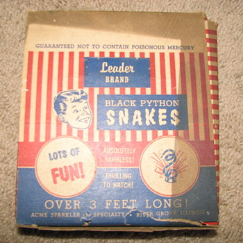 Vintage Toy (Black Python Snakes) - Toys