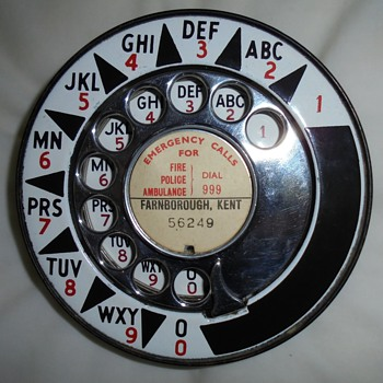 1953 UK alphanumeric dial + huge outer ring - Telephones
