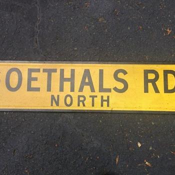 1960s Staten Island, N.Y. street sign