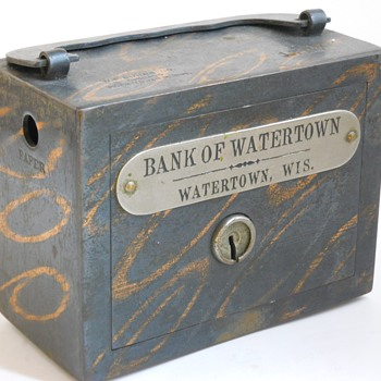 "Promotional Advertising Steel Bank""Bank Of Watertown, Wisconsin"",Circa 1895"