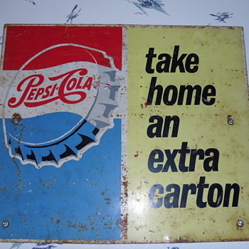 ~~Vintage Double Sided Pepsi Sign~~