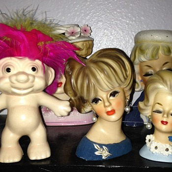 A few Small Head Vase Favorites and One Large! - Figurines