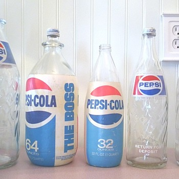 Pepsi Pepsi & more Pepsi bottles