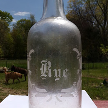 Etched Rye Bottle