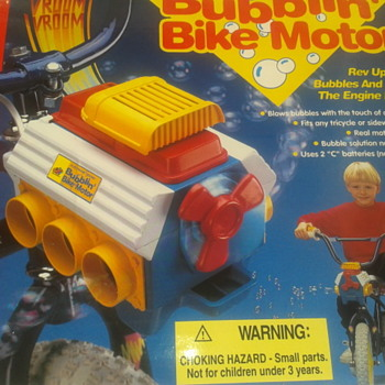 NEW..VERY  RARE BIKE Bubble Motor Blower Toy 1994  - Toys