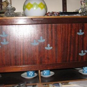 Teak credenza and shelves - Furniture