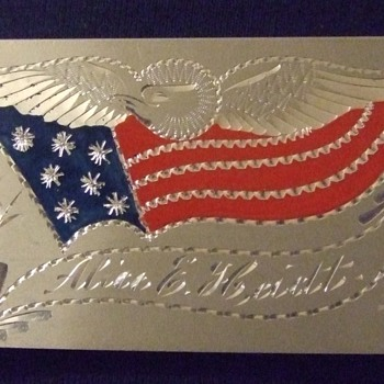 SAW Patriotic card case c. 1898 - Military and Wartime