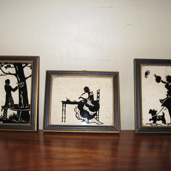 Old framed silhouttes