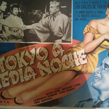 Tokyo After Dark (1959) Mexican Lobby Card - Movies