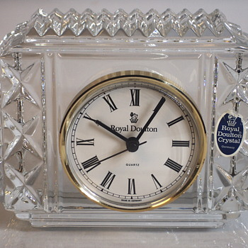"Royal Daulton""Germany"" Crystal Table Clock, 20 Century - Glassware"