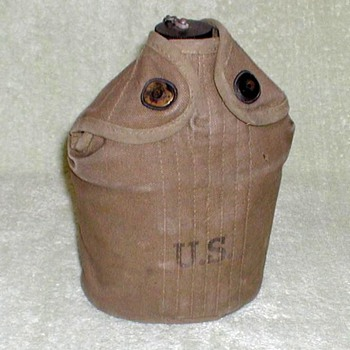 WWII U.S. Army Canteen with Pouch - Military and Wartime