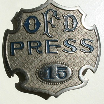 OFD Press Badge - Firefighting
