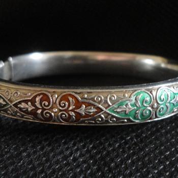 Historismus silver and enamel bracelet by Markowitsch & Scheid, Vienna c. 1870