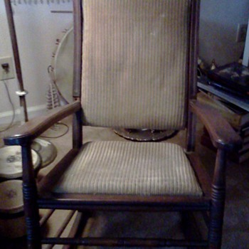 Velvet Rocking Chair - Furniture