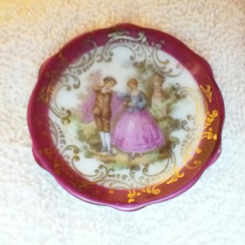 Limoges miniature plate  - China and Dinnerware
