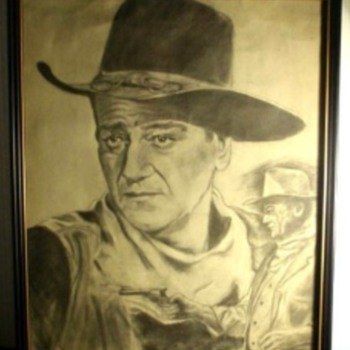 Rare John Wayne Pencil Sketch