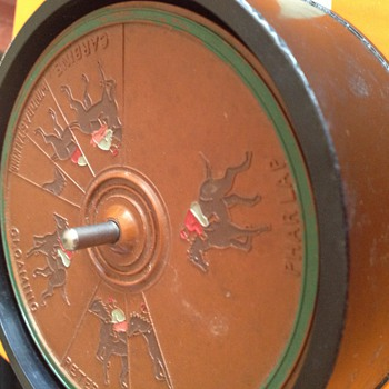 Bakelite horse gambling game I played with my granpa - Games
