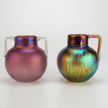 The same but different, two Marie Kirschner designs for Loetz - Art Glass