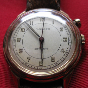 First Generation postwar Movado One-Button Chronograph. The very rarest of the rare  - Wristwatches