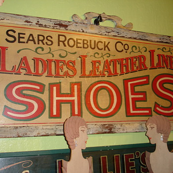 Vintage Sears Roebuck and Company Shoes Sign