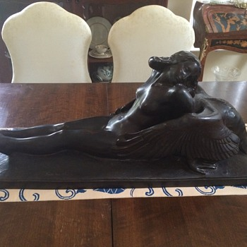 art deco bronze lady
