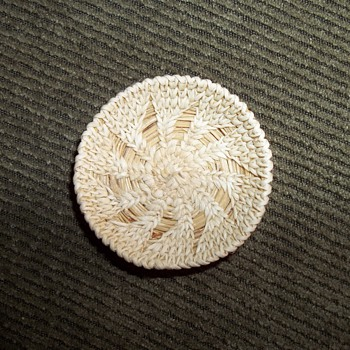 Native American Miniature Tohono O'odham Woven Plate  - Native American