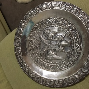 k and j silver tray - Sterling Silver