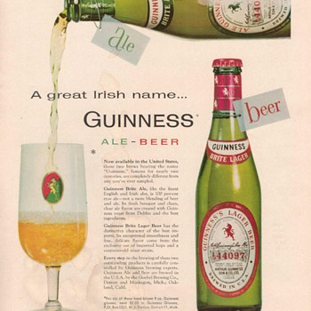 1955 Guinness Ale Advertisements - Advertising