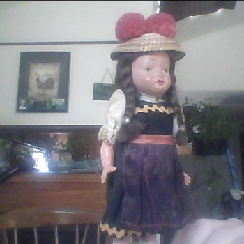 small bisque german doll