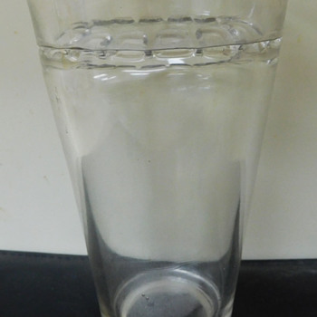 "1900 Glass Tumbler with Weird ""Teeth""  Scalloped Flanged Edge ""Patent Applied For"" - Glassware"