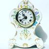 Vintage German Chime Mantal Clock w/ Floral Design