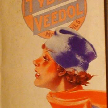 Tydol Trails thru Delaware, Maryland, Virginia, West Virginia Map 1935