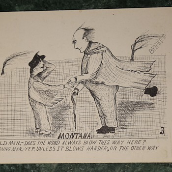 Two more comic postcards from 1910