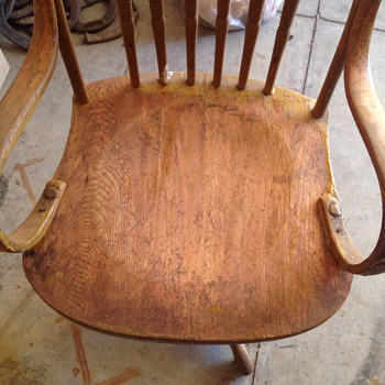 Antique Press Back Chair Restoration Cont.