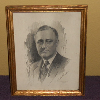 Franklin Delano Roosevelt 8 by 10  print