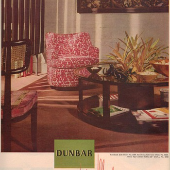 1950 Dunbar Furniture Advertisements - Advertising