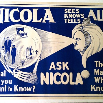 Original 1930&#039;s &quot;Nicola&quot; Stone Lithograph Poster